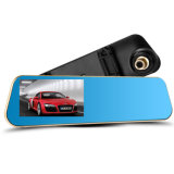 Veicolo doppio DVR dell'automobile della camma del precipitare della macchina fotografica dello specchio di retrovisione di HD