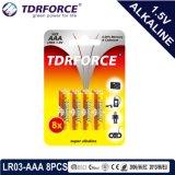 Alkalische trockene Batterie (LR03-AAA Größe) mit Cer genehmigte für Spielzeug 6PCS 5 Jahre Lagerbeständigkeits-