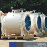 La caja de engranajes montado en el muñón de división de brida Válvula de bola