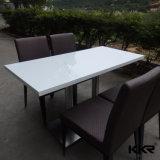 Pierre artificielle blanche Table à manger du restaurant de la Cantine