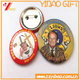 Bouton personnalisable d'un insigne/bouton d'étain d'un insigne avec logo imprimé pour la promotion cadeau (YB-SM-02)