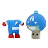 8GB venganza del regalo del muchacho del mecanismo impulsor de la memoria del USB del capitán América
