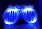 Vidrios ligeros de los regalos LED del partido del número 2018 de la Feliz Año Nuevo