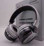 Pintura cor metálica a dobragem e Lightable fone de ouvido Bluetooth com microfone FM e TF a música do cartão