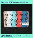 Quatre de la carte d'impression couleur faite de plastique avec une bande magnétique pour la crème glacée Store