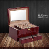 Madera personalizada Joyería de Bodas Paquete de Caja de regalo de caja de reloj de madera