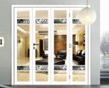 Interior exterior de la doble vidriera BI-Plegable la puerta deslizante de los 5 paneles