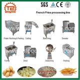 Patatas fritas profesionales que hacen la máquina y la línea de transformación entera