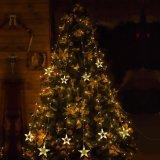 As luzes da cortina da estrela, corda impermeável da cortina do diodo emissor de luz iluminam decorativo interno/ao ar livre para o Natal/Halloween/casamento/partido