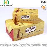 Rectángulo de empaquetado frito Carboard impreso del pollo/rectángulo de papel plegable del alimento de bocado