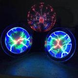 Vidro de 6 polegadas criativo Bola de plasma com função Sound-Control da Lâmpada