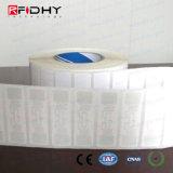 Documento imprimible EPC Gen2 C1 Monza R6 UHF en la etiqueta de metal