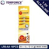 Ce/ISO 6PCS (LR6-AAのサイズ)の1.5volt一次乾燥したアルカリ電池