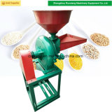 Macchina stridente del molino a dischi del frantoio del mini grano dell'alimentazione animale