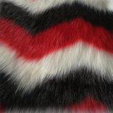 جاكار أحمر سوداء أبيض طويلة كومة حاشدة قطيفة [فوإكس] فروة