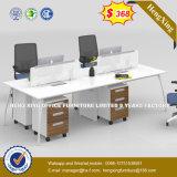 Forniture di ufficio moderne della stazione di lavoro di Partiton delle 4 sedi (HX-8N0663)