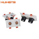 Alto brilho 2*5W GRELHA LED Farol de tecto ajustável