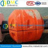 Lamas de dragagem marinha de bóia de HDPE de plástico