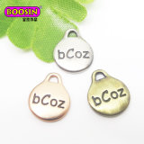12*7mm Custom Oval Metal Logo Engraved Jewelry Tag for Bracelet