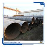 Tubo de acero soldada en espiral de carbono soldadas de arco en espiral la tubería de acero ASTM A53 Tubo de acero espiral negro