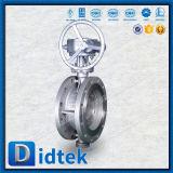 Триппеля шестерни Didtek клапан-бабочка вафли теплого смещенная