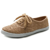 2018 Sommer-Dame-Mokassin-Müßiggänger-Faltenbildung-Frauen-flache Schuhe