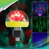 Micro USB Tipo C Mini lâmpada LED RGB 4W estágio de controle de som luz club discoteca parte lâmpada LED de música