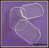 Lastra di vetro libera termoresistente del quarzo con il taglio d'angolo