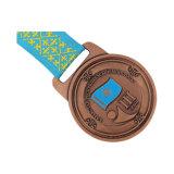 자신의 자주색 별 메달 마라톤 스포츠 메달을 만드십시오