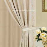 Cortina de ventana elegante del hogar/del hotel del diseño del telar jacquar con guardamalleta