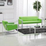 جلد نوع مكتب أريكة مع معدن إطار متّكأ الموقف