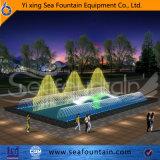 Грациозно нот танцуя напольный фонтан воды