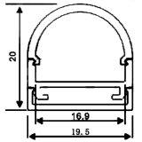Profil fixé au mur du plafond DEL du demi-cercle Z4107