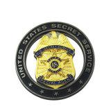 Preiswerter kundenspezifischer Armee-Polizei-Großhandelssport, der Goldandenken-magnetisches Militärabzeichen laufen lässt