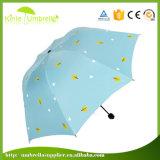 Qualität UVCaoted 3 Dame-Regenschirm der Falten-Mimi