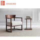 Tessuto di legno di Materiali del coperchio dell'ammortizzatore della presidenza del sofà della singola noce di svago di stile dell'Italia