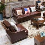 Caldo vendendo sofà di cuoio unico e comodo (AS849)