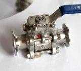 Form-Edelstahl installieren schnell 3PC Kugelventil der Schelle-drei