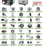 ディーゼル発電機セット170f 178f 186f 5kwのためのロック及びキー