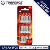 Mercury&Cadmium Free China Supplier digitally Alkaline Battery (LR03-AAA 12PCS)