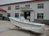 Liya 19ft barco de fibra de vidrio para la pesca en barco a motor fueraborda
