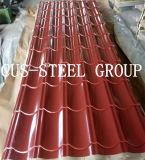 840/1100mm Perfil simétrico Tile Roofing hojas/ Hoja de impermeabilización de cubiertas de acero esmaltada