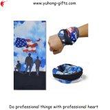 Hoher elastischer Bandana konzipieren RöhrenHeadwear amerikanische Soldaten gute Luft-Permeabilität (YH-HS185)