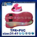 Zapato popular 's Outsole del rodillo del LED con la rueda