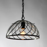 Стекло подвесной светильник с черной рамкой для ресторана
