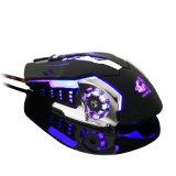 Los ratones ópticos del juego del ordenador ajustable LED de Mause 4000dpi del ratón del juego ataron con alambre el ratón Lol del cable de los juegos del USB para Gamer profesional