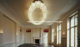 Projekt-Hotel-Vorhalle-Decken-Leuchter-Lampe, moderne Jade-Glasfarbton-Deckenleuchte-Beleuchtung in 15 Lichtern, 18 Lichter 30 Lichter hinsichtlich der Abnehmer-Größe