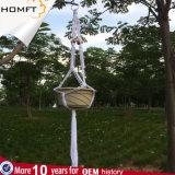 Бак зеленого завода корабля подарка дома декора веревочки хлопка цвета природы Handmade вися