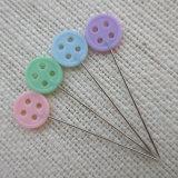 Plástico bonitas cores doces 46mm Pino Reto de costura de cabeça de botão