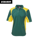 Kurze Hülse Dri passendes Mens-Polo-Hemd-/Wholesale-preiswertes Sublimation-Grille Jersey